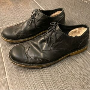UGG black leather Bristol Oxford shoe size 10.5